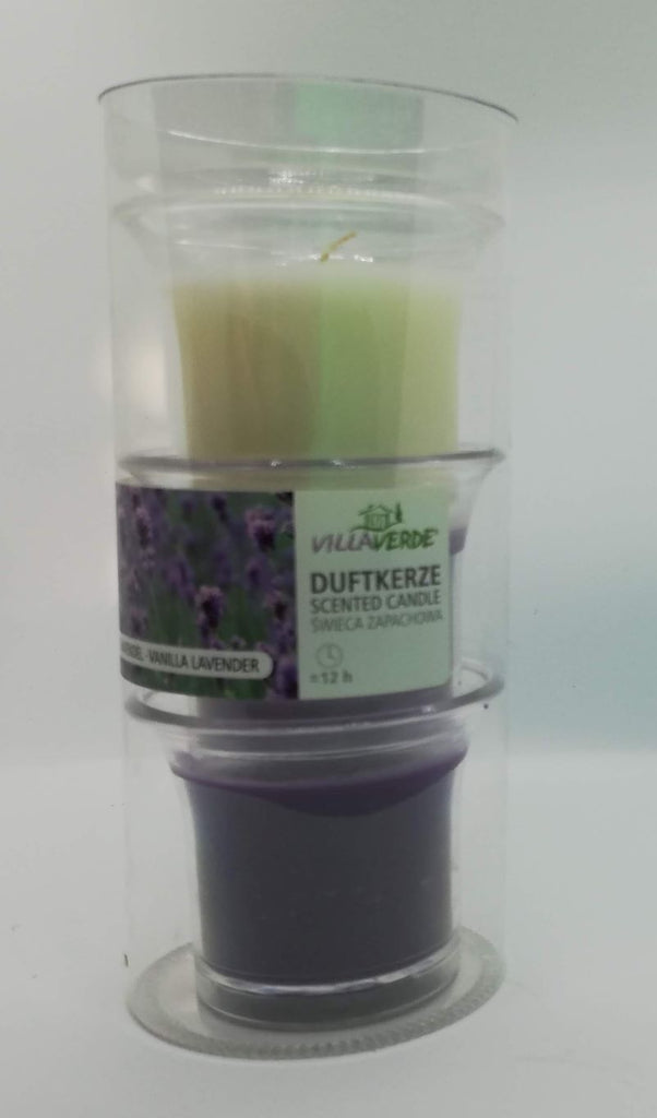 Vanilla - Lavender Scented Candles in Cup, Set of 3 in a Tube - Kimi's Beauty Shop