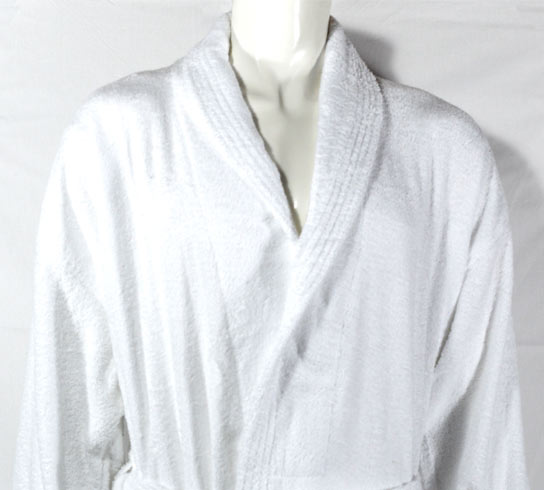400gsm Shalw Collar Bathrobe in White - Kimi's Beauty Shop