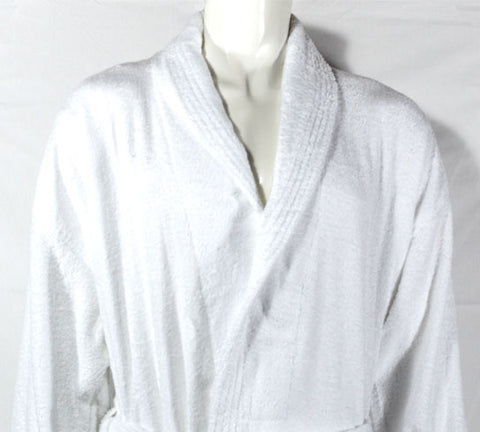 400gsm Shalw Collar Bathrobe in White