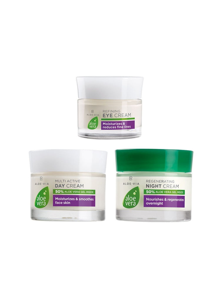 Face Care Set with 50% Aloe Vera