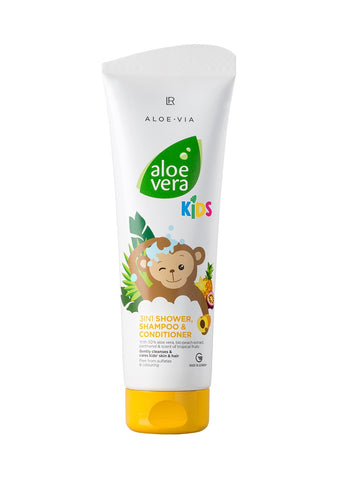 Aloe Vera Kids 3 in 1 Shower Gel, Shampoo & Conditioner