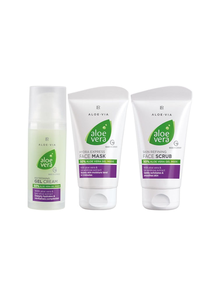 Face Cleansing and Freshness Set with Aloe Vera