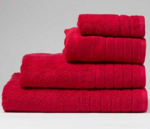 Luxury Cotton Bath Towel Cherry Red