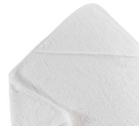 Soft Baby Hooded Towel White - 75cm x 75cm