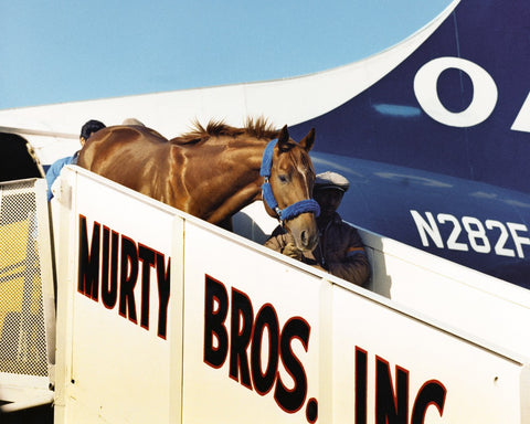 Secretariat Arriving in Lexington