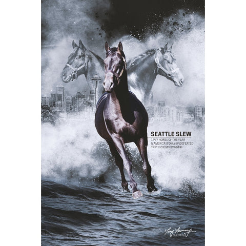 Seattle Slew Commemorative Poster