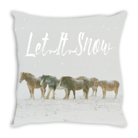 Let It Snow Holiday Pillow