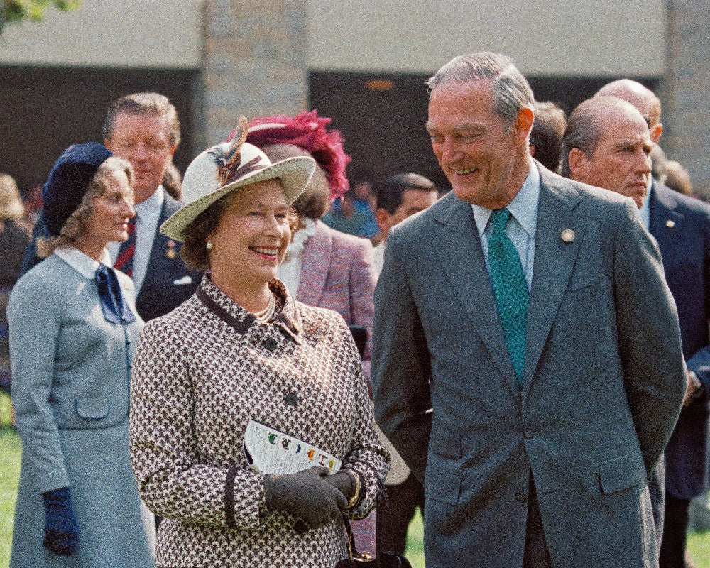 Queen Elizabeth II with Ted Bassett