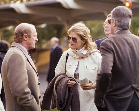 Candice Bergen Attends the Races