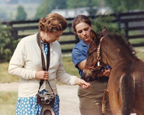 Queen Elizabeth II with Foal