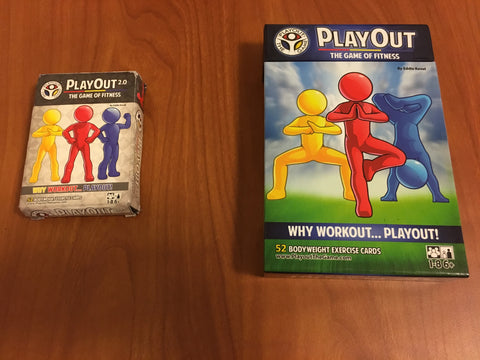 newly designed PlayOut game of fitness cards