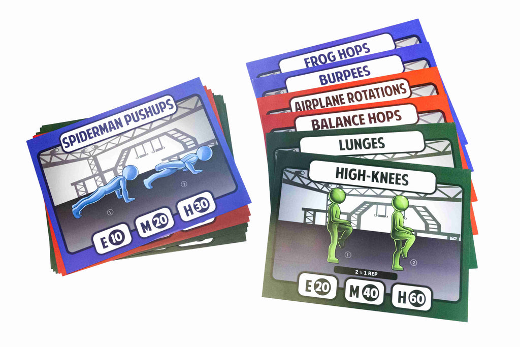 Ninja Warrior Station Cards Primary