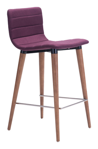 ZUO Jericho Counter Chair Purple - Set of 2 - 100273 - Your Kitchen Island - 1