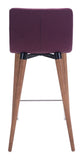 ZUO Jericho Counter Chair Purple - Set of 2 - 100273 - Your Kitchen Island - 4