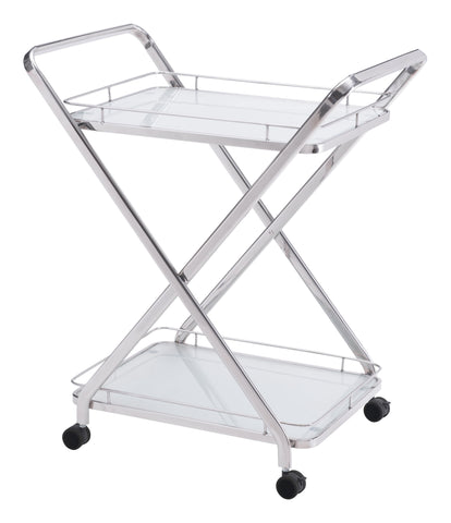 ZUO Vesuvius Kitchen Cart Stainless Steel 100369 - Your Kitchen Island - 1