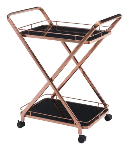 ZUO Vesuvius Kitchen Cart Rose Gold 100370 - Your Kitchen Island - 1
