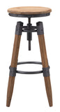 ZUO Curry Bar Stool Natural Pine & Industrial Gray 100417 - Your Kitchen Island - 3