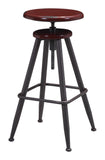 ZUO Bog Bar Stool Distressed Burgundy 100420 - Your Kitchen Island - 3