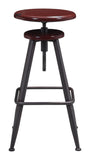 ZUO Bog Bar Stool Distressed Burgundy 100420 - Your Kitchen Island - 4