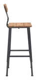 ZUO Clay Bar Chair Natural Pine & Industrial Gray 100421 - Your Kitchen Island - 2