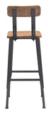 ZUO Clay Bar Chair Natural Pine & Industrial Gray 100421 - Your Kitchen Island - 4