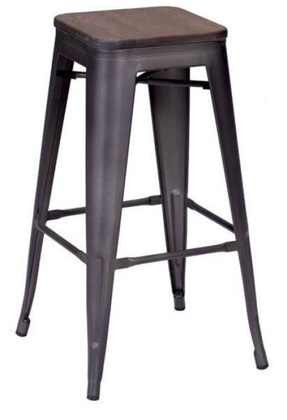 ZUO Marius Bar Stool Rustic Wood  Set of 2 - 106107 - Your Kitchen Island - 1