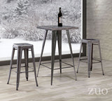 ZUO Marius Bar Stool Rustic Wood  Set of 2 - 106107 - Your Kitchen Island - 3