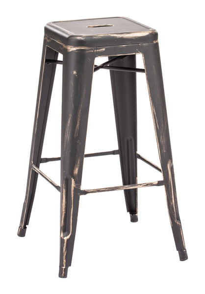 ZUO Marius Bar Stool Antique Black Gold Set of 2 - 106108 - Your Kitchen Island - 1