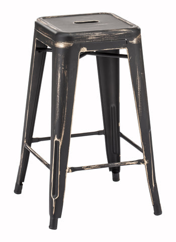 ZUO Marius Counter Stool Antique Black Gold Set of 2 - 106112 - Your Kitchen Island - 1