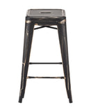 ZUO Marius Counter Stool Antique Black Gold Set of 2 - 106112 - Your Kitchen Island - 2