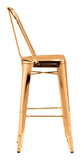 ZUO Elio Bar Chair Gold - Set of 2 - 108062 - Your Kitchen Island - 4
