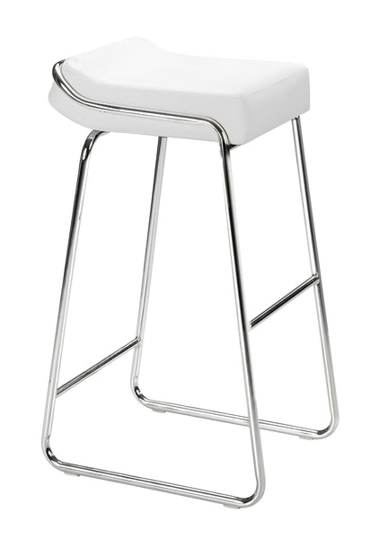 ZUO Wedge Bar Stool White and Chroe- Set of 2 - 300042 - Your Kitchen Island - 1