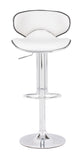 ZUO Fly Bar Stool White and Chrome- 300131 - Your Kitchen Island - 4