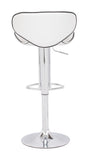 ZUO Fly Bar Stool White and Chrome- 300131 - Your Kitchen Island - 2