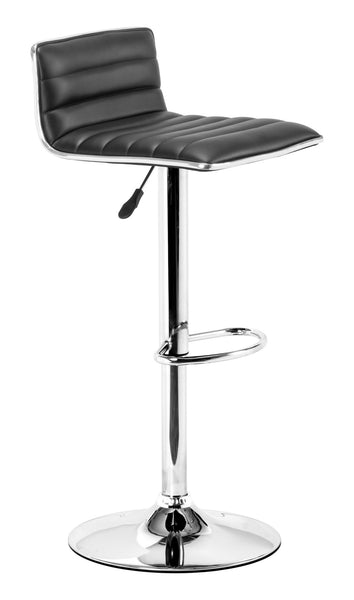 ZUO Equation Bar Stool Black and Chrome - 300218 - Your Kitchen Island - 1