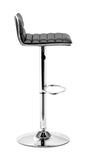 ZUO Equation Bar Stool Black and Chrome - 300218 - Your Kitchen Island - 2