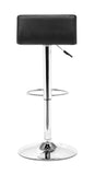 ZUO Equation Bar Stool Black and Chrome - 300218 - Your Kitchen Island - 4