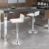 ZUO Equation Bar Stool Black and Chrome - 300218 - Your Kitchen Island - 5
