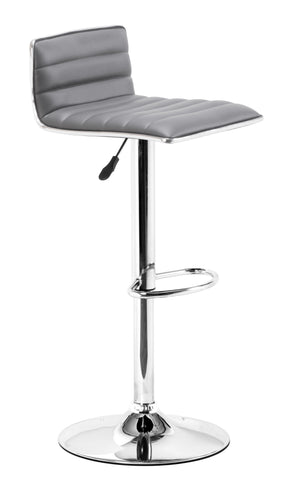 ZUO Equation Bar Stool Gray and Chrome - 300220 - Your Kitchen Island - 1
