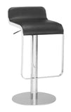 ZUO Equino Bar Stool Black and Chrome - 301111 - Your Kitchen Island - 1