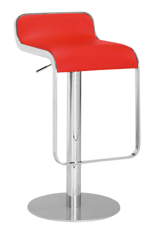 ZUO Equino Bar Stool Red and Chrome - 301112 - Your Kitchen Island - 1