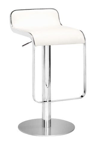 ZUO Equino Bar Stool White and Chrome - 301113 - Your Kitchen Island - 1
