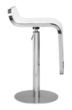 ZUO Equino Bar Stool White and Chrome - 301113 - Your Kitchen Island - 3