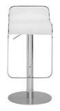 ZUO Equino Bar Stool White and Chrome - 301113 - Your Kitchen Island - 4