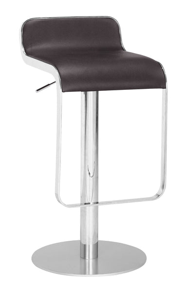 ZUO Equino Bar Stool Espresso and Chrome - 301114 - Your Kitchen Island - 1