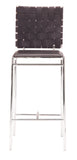 ZUO Criss Cross Counter Chair Espresso and Chrome - Set of 2 - 333060 - Your Kitchen Island - 3