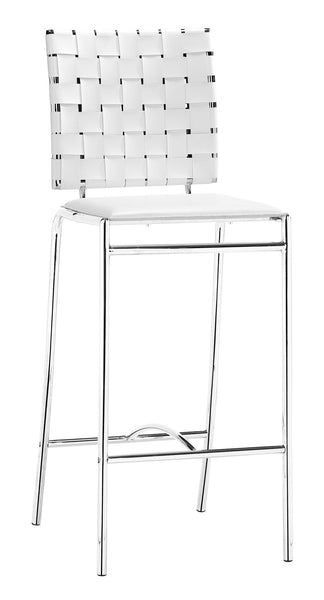 ZUO Criss Cross Counter Chair White and Chrome - Set of 2 - 333061 - Your Kitchen Island - 1