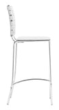 ZUO Criss Cross Counter Chair White and Chrome - Set of 2 - 333061 - Your Kitchen Island - 3