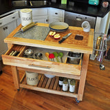 Chris & Chris Natural Pro Chef Series Work Station - Kitchen Cart - Your Kitchen Island - 4