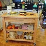 Chris & Chris Natural Pro Chef Series Work Station - Kitchen Cart - Your Kitchen Island - 2